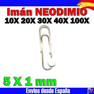 10x 20x 30x 40x 100x Imán de Neodimio 5 x 1 mm Imanes Neodimio IMAN MAGNETICO