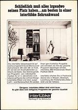 3w2587/ Alte Reklame von 1968 - INTERLÜBKE Möbel - Wiedenbrück / Westf.
