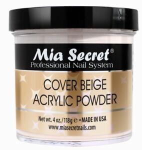 Mia Secret Cover Beige Acrylic Nail Powder 4 oz - Made in USA