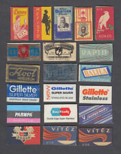 20 Old Razor Blades & Wrappers