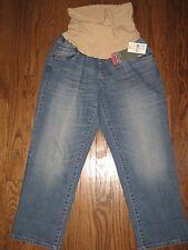 NEW Motherhood Oh Baby maternity womens large denim jeans capri cropped