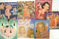 Lot of 7 Vintage Style Glamour Paper Doll Books