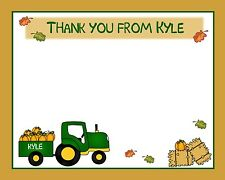 20 Personalized Thank You Cards -  Tractor