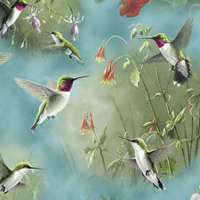FABRIC Quilting Treasures ~ HUMMINGBIRDS ~ Hautman Brothers (25934 Q) by 1/2 yd