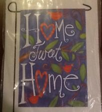 """Small 12 1/2"""" x 18"""" Home Tweet Home Spring Theme Garden Art Flag New In Packag"""