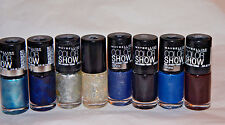 8x Maybelline Color Show Nail Lacquer Metallics Denims Assorted