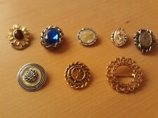 Vintage Collection of 8 Scarf Clip Brooches.