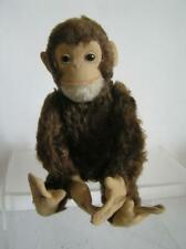 "Vintage Schuco Yes-No 14"" Chimp Monkey Dark Brown Mohair Works!"
