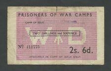 More details for british p.o.w. 2/6  wwii camp 27 c5019a  prisoner of war  banknotes