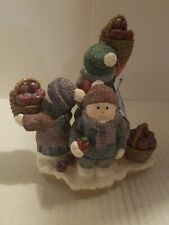 Snowman Factory Frosty Folks. By Betty Singer Candle Holder New In Bo