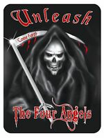 """Grim Reaper Large Decal Vinyl Sticker Personalize 8"""" x 10"""" Any Color Goth Skulls"""
