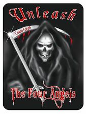 "Grim Reaper Large Decal Vinyl Sticker Personalize 8"" x 10"" Any Color Goth Skulls"