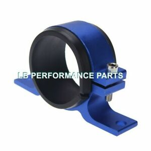 "50mm 2"" ID Aluminium Bracket Clamp Cradle for Fuel Pump Filter Aeromotive  Blue"