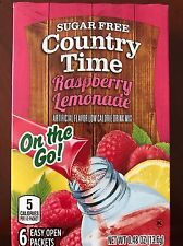 6 Boxes Country Time Raspberry Lemonade On The Go Drink Mix --> 36 Servings