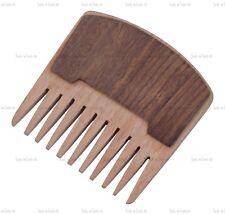 Quality Wooden Bushy Beard Comb Mustache Pocket Double Wood Anti-static Fashion
