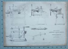 1847 Ingénierie Imprimé Auto Action Composé Rabotage Machine Nasmyth Gaskell