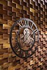 Large Gear Wall Clock Vintage Rustic Wooden luxury Handmade Clock Art Vintage
