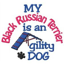 My Black Russian Terrier is An Agility Dog Short-Sleeved Tee - Dc2090L
