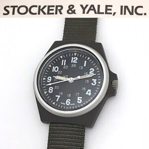 Rare NOS Vintage Stocker & Yale 184 Type 3 595  MIL-W-46374D Mens Military Watch