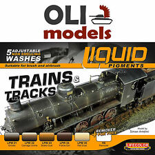 Trains & Tracks Railway Weathering Liquid Pigments Set 6x22ml  LIFECOLOR LP05