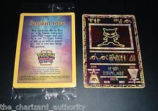Pokemon ANCIENT MEW Movie DOUBLE HOLO Black Star Promo MINT SEALED Card