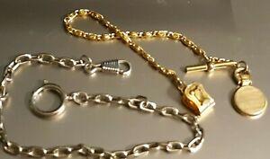 2 pocket watch fobs goldtone vintage  + 1
