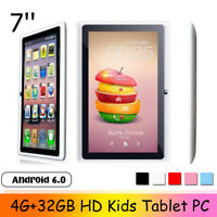7'' HD Kids Tablet PC 4G+32GB Android 6.0 Quad Core 2 Camera WiFi bluetooth