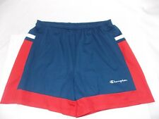 Vtg Champion Size 3X Red White Blue Embroidered Spellout Gym Running Shorts