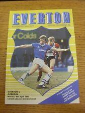 09/04/1984 Everton v Arsenal  (Excellent Condition)