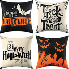 Halloween Pillow Covers Set of 4 18x18 Decorative Couch Pillow Covers