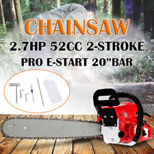 20''Pro 52CC Engine Petrol Chainsaw Cutting Wood Saw Bar Handle+Repair Tool New