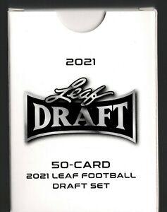 2021 NFL LEAF DRAFT 50 CARD SET LAWRENCE FIELDS WILSON LANCE CHASE **HOTTTT**