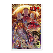 Akira Red Fighting Japan Anime Canvas Poster Art Print 12x18 24x36''