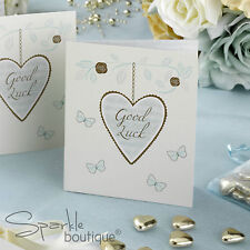 VINTAGE-STYLE LOTTERY TICKET / SCRATCH CARD HOLDERS -Wedding Favours- Gold Heart