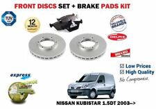 FOR NISSAN KUBISTAR 1.5DT 2003--> NEW FRONT BRAKE DISCS SET + DISC PADS KIT