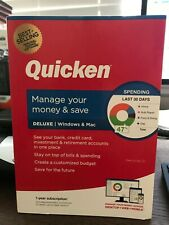Quicken Deluxe 2020 Personal Finance – 1-Year Subscription - Windows/Mac - New