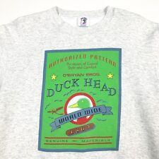 VTG Duck Head Sweatshirt Big Print Size L Streetwear Hypebeast Supreme Crest