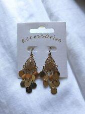 Jewellery Girls Womens Accessories Long Earrings Brand New Gold Pair Of Earrings
