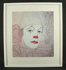 Pia Mankopf - 1974 Düsseldorf / Clown mit Rüsche / Gemälde signiert im Rahmen
