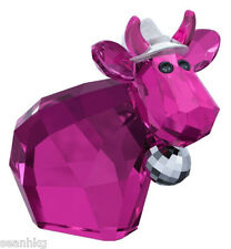 Swarovski Disco Mo, Lt. Ed-2013 Ball & Hat Cow Bull Crystal Figurine - 5003403