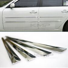Chrome Side Skirt Door Line Sill Garnish Molding Trim Cover 4Pcs for PORSCHE Car