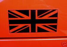 UNION JACK UK Flag Black&Clear STICKERS Jaguar Bentley