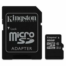 KINGSTON MICRO SDHC C10 16GB 16G 16 G CLASS 10 UHS-I U1 MICRO SD HC MEMORY CARD