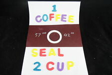 STOVE TOP COFFEE PERCOLATOR 1 SILICONE SEAL FOR 2 CUP POT FREE POST OZ MADE