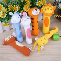 HOT Soft Sound Animal Handbells Plush Squeeze Rattle Toys For Newborn Baby Gift