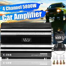 4 CH 5800W Watt Car Amplifier Audio Stereo Super HiFi Bass Subwoofer Amp 12V DC