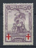 Belgio 1914 Mi. 106 Nuovo ** 100% 20 C, Croce Rossa