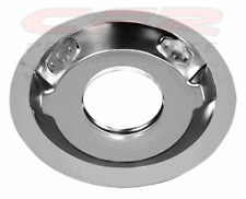 """STEEL AIR CLEANER 14"""" ROUND 1-1/4"""" DROP RECESSED BASE - Chrome"""