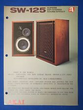 AKAI SW-125 SPEAKERS SALES BROCHURE ORIGINAL FACTORY ISSUE THE REAL THING