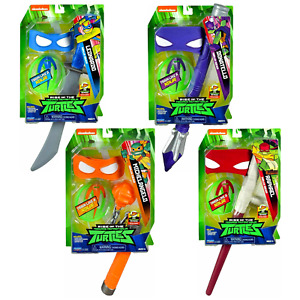NINJA GEAR Rise of the Teenage Mutant Ninja Turtles TMNT Mask/Weapon Toy
